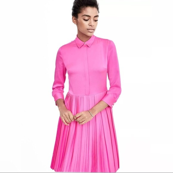 f4cf0d8765e Banana Republic Dresses   Skirts - Banana Republic Pink Pleated Shirt Dress